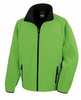 GREEN WITH BLACK RESULT SOFT-SHELL JACKET